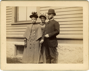 Abby Blanchard with parents Annie Brown Blanchard and C. P. Blanchard (l. to r.)