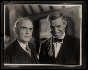 James Morgan of the Globe (left) with humorist Will Rogers (copy print)