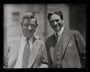 Will Rogers (left) and Dr. James W. Brougher