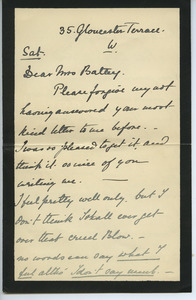 Letter from Edith Franklin to Elizabeth Battey