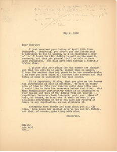 Letter from Bernard Jaffe to Shirley Graham Du Bois