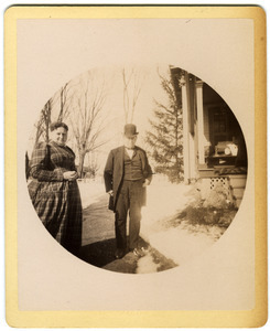 Mary and Hammond Brown outside their home