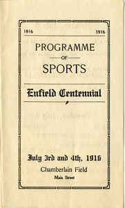 Programme of sports, Enfield Centennial