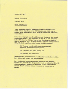 Memorandum from Robert D. Kain to Mark H. McCormack