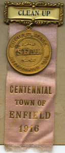 'Clean up' badge and Enfield Centennial medallion
