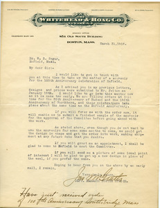 Letter from James A. McGrath to W. B. Segur