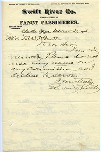 Letter from Edward Smith to Donald W. Howe