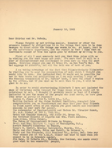 Letter from Bernard Jaffe to Shirley Graham Du Bois and W. E. B. Du Bois
