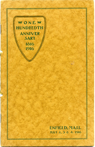 The hundredth anniversary of Enfield, Massachusetts