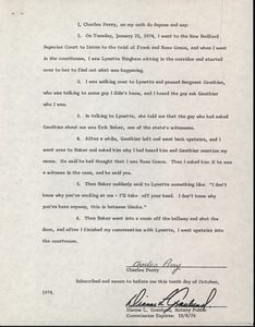 Affidavit by Charles Perry