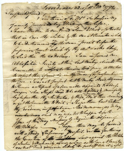 Draft letter from Moses Brown to Samuel Elliot