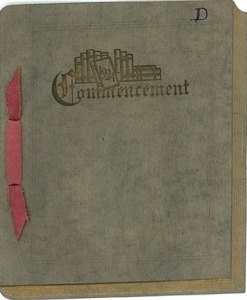 Invitation for the 1924 commencement at New Salem Academy
