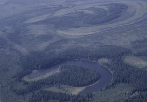 Aerial view of Alaska river