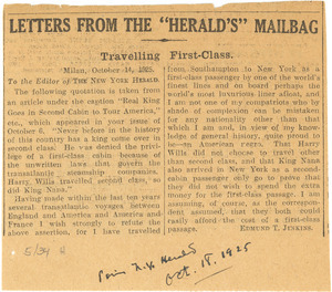 Letters from the Herald's mailbag
