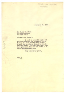 Letter from W. E. B. Du Bois to The League for Industrial Democracy