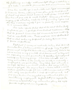 Letter from Mrs. J. M. Thompson to Jennie Lee