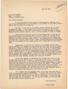 Letter from James Aronson to Jerry Christmas