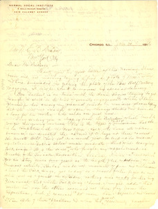 Letter from E. Azalia Hackley to W. E. B. Du Bois