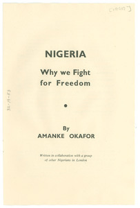 Nigeria:why we fight for freedom