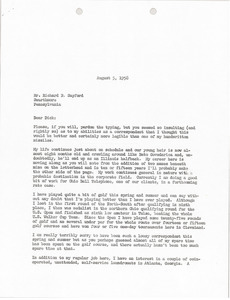 Letter from Mark H. McCormack to Richard B. Sayford