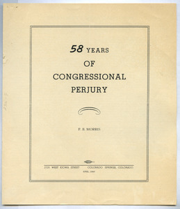 58 Years of Congressional Perjury