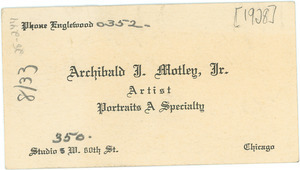 Archibald J. Motley Jr. business card
