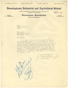 Letter from J. H. N. Waring Jr. to the Crisis