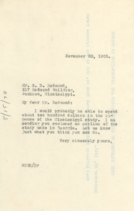 Letter from W. E. B. Du Bois to S. E. Redmond