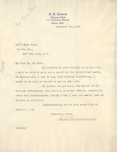 Letter from S. D. Redmond to W. E. B. Du Bois