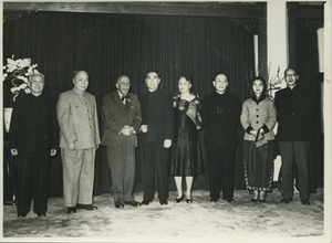 Chen Yi, W. E. B. Du Bois, Zhou Enlai, Guo Moruo, Shirley Graham Du Bois and other Chinese dignitaries