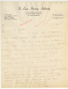 Letter from Mabel B. Curtis to W. E. B. Du Bois