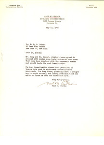 Letter from Saul M. Perdue to W. E. B. Du Bois