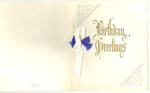 Birthday card from 20 West 40th Street to W. E. B. Du Bois