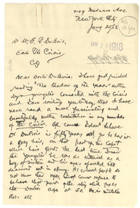 Letter from John Bruce to W. E. B. Du Bois