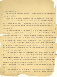 Letter from Eva Lewis to W. E. B. Du Bois