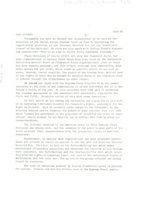 Circular letter from National Assembly for Democratic Rights to W. E. B. Du Bois