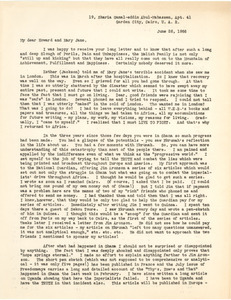 Letter from Shirley Graham Du Bois to Howard and Mary Jane Melish