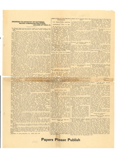Address to country of National Negro-American Political League of the U.S.