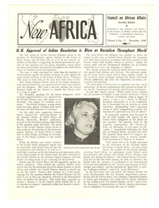 New Africa volume 5, number 11