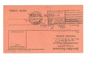 Return receipt from United States Postmaster to Crisis