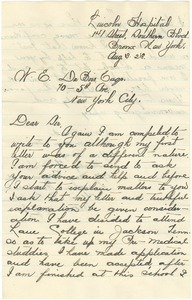 Letter from Stanley F. White to W. E. B. Du Bois