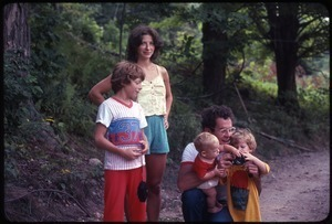 Dan and Nina Keller with their three children, Wendell Farm Commune