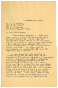 Letter from W. E. B. Du Bois to The American Mercury