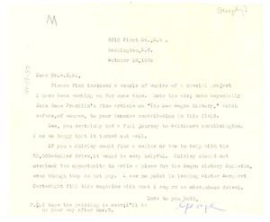 Letter from George B. Murphy to W. E. B. Du Bois