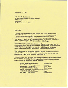 Letter from Mark H. McCormack to Carl A. Kuhrmeyer
