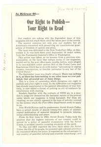 In defense of our right to publish -- your right to read