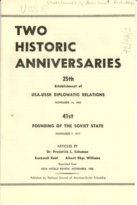 Two historic anniversaries
