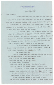 Letter from W. E. B. Du Bois to Shirley Graham Du Bois