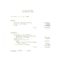 Ad hoc committee financial statement