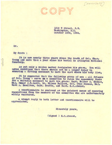 Circular letter from Henry O. Atwood to unidentified correspondent